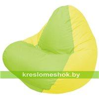 Кресло мешок RELAX жёлтое, сидушка сатовая