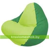 Кресло мешок RELAX зелёное, сидушка сатовая