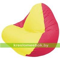 Кресло мешок RELAX красное, сидушка жёлтая