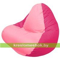 Кресло мешок RELAX малиновое, сидушка розовая