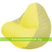 Кресло мешок RELAX оливковое, сидушка жёлтая
