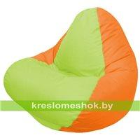 Кресло мешок RELAX оранжевое, сидушка сатовая