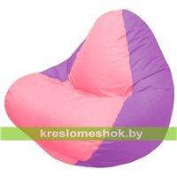 Кресло мешок RELAX сиреневое, сидушка розовая
