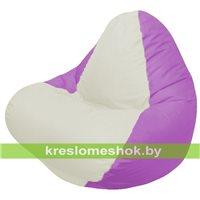 Кресло мешок RELAX сиреневое, сидушка белая