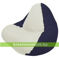 Кресло мешок RELAX чёрное, сидушка белая