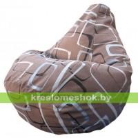 Кресло-мешок Груша Геометрик Мега