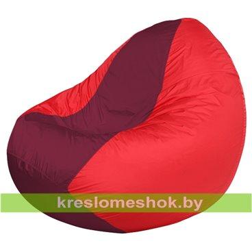 Кресло мешок Classic К2.1-47 (основа бордовая, вставка красная)