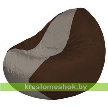 Кресло мешок Classic К2.1-66 (основа коричневая, вставка серая тёмная)