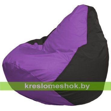 Кресло-мешок Груша Макси Г2.1-101 (основа чёрная, вставка сиреневая)