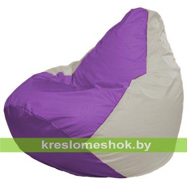 Кресло-мешок Груша Макси Г2.1-113 (основа белая, вставка сиреневая)