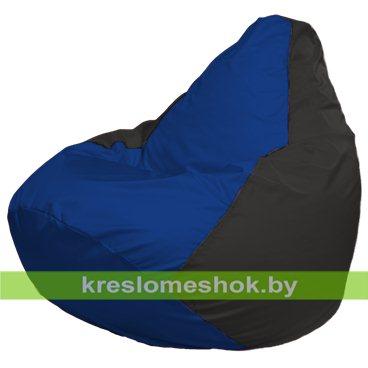 Кресло-мешок Груша Макси Г2.1-115 (основа чёрная, вставка синяя)