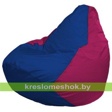 Кресло-мешок Груша Макси Г2.1-116 (основа фуксия, вставка синяя)