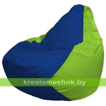 Кресло-мешок Груша Макси Г2.1-119 (основа салатовая, вставка синяя)