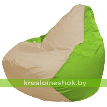 Кресло-мешок Груша Макси Г2.1-141 (основа салатовая, вставка бежевая)