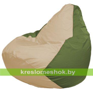 Кресло-мешок Груша Макси Г2.1-144 (основа оливковая, вставка бежевая)