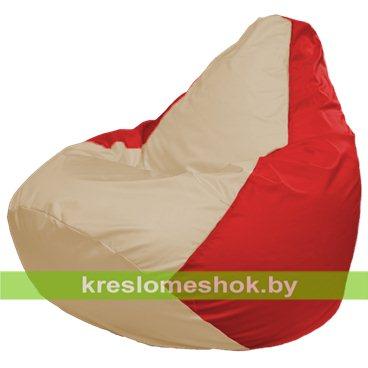 Кресло-мешок Груша Макси Г2.1-145 (основа красная, вставка бежевая)