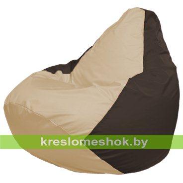 Кресло-мешок Груша Макси Г2.1-146 (основа коричневая, вставка бежевая)