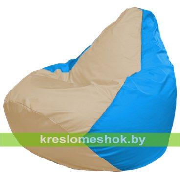Кресло-мешок Груша Макси Г2.1-149 (*основа голубая, вставка бежевая)