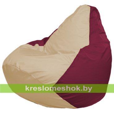 Кресло-мешок Груша Макси Г2.1-150 (основа бордовая, вставка бежевая)