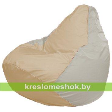 Кресло-мешок Груша Макси Г2.1-152 (основа белая, вставка бежевая)