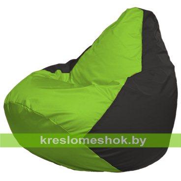 Кресло-мешок Груша Макси Г2.1-153 (основа чёрная, вставка салатовая)