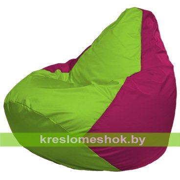 Кресло-мешок Груша Макси Г2.1-154 (основа фуксия, вставка салатовая)