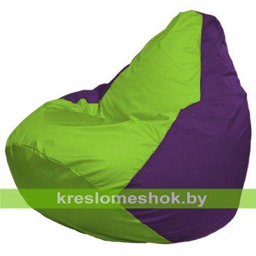 Кресло-мешок Груша Макси Г2.1-155 (основа фиолетовая, вставка салатовая)
