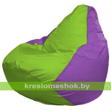 Кресло-мешок Груша Макси Г2.1-158 (основа сиреневая, вставка салатовая)