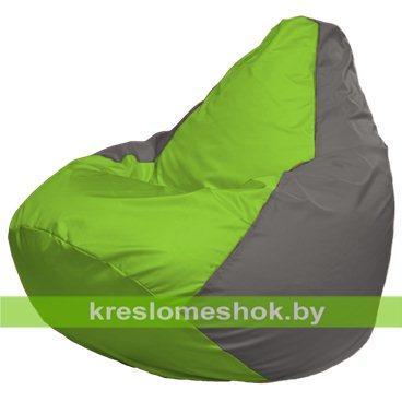 Кресло-мешок Груша Макси Г2.1-160 (основа серая, вставка салатовая)