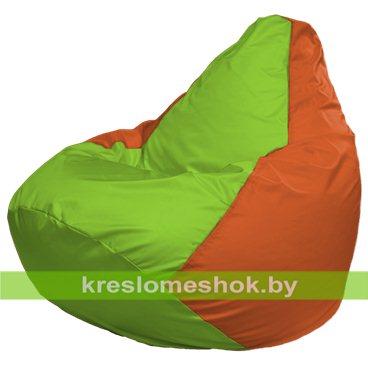 Кресло-мешок Груша Макси Г2.1-163 (основа оранжевая, вставка салатовая)
