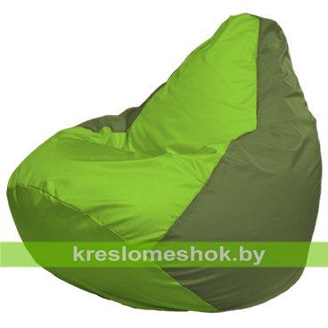 Кресло-мешок Груша Макси Г2.1-164 (основа оливковая, вставка салатовая)