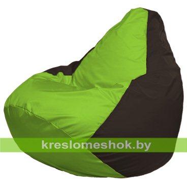 Кресло-мешок Груша Макси Г2.1-165 (основа коричневая, вставка салатовая)