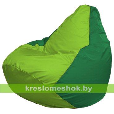 Кресло-мешок Груша Макси Г2.1-166 (основа зелёная, вставка салатовая)