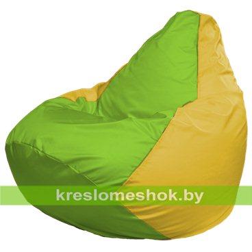 Кресло-мешок Груша Макси Г2.1-167 (основ жёлтая, вставка салатовая)