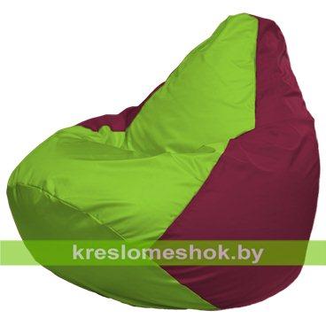 Кресло-мешок Груша Макси Г2.1-169 (основа бордовая, вставка салатовая)