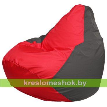 Кресло-мешок Груша Макси Г2.1-170 (основа серая тёмная, вставка красная)