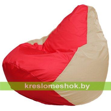 Кресло-мешок Груша Макси Г2.1-174 (основа бежевая, вставка красная)