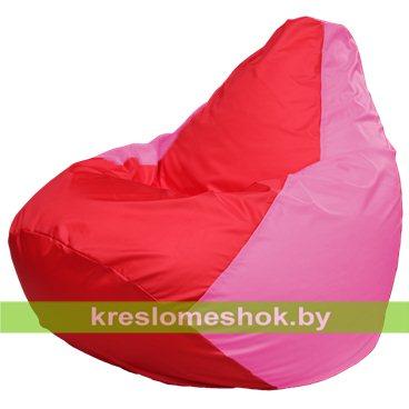Кресло-мешок Груша Макси Г2.1-175 (основа розовая, вставка красная)