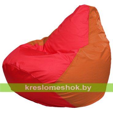 Кресло-мешок Груша Макси Г2.1-176 (основа оранжевая, вставка красная)