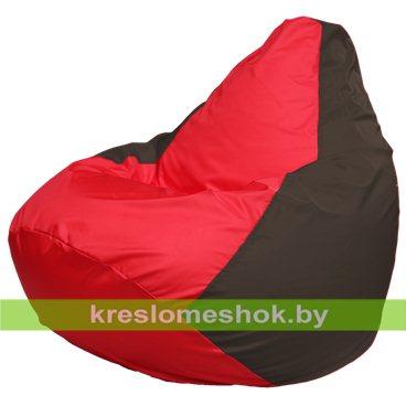 Кресло-мешок Груша Макси Г2.1-177 (основа коричневая, вставка красная)