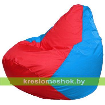 Кресло-мешок Груша Макси Г2.1-179 (основа голубая, вставка красная)