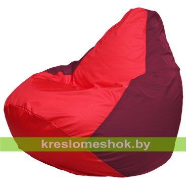 Кресло-мешок Груша Макси Г2.1-180 (основа бордовая, вставка красная)
