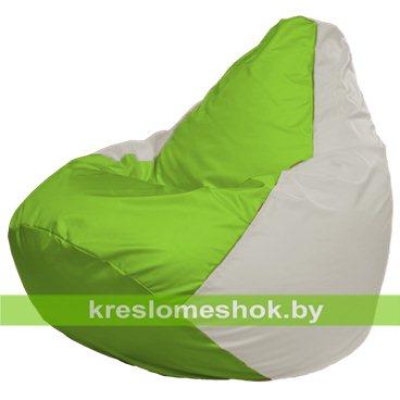 Кресло-мешок Груша Макси Г2.1-183 (основа белая, вставка салатовая)