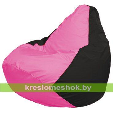 Кресло-мешок Груша Макси Г2.1-188 (основа чёрная, вставка розовая)
