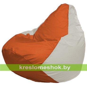 Кресло-мешок Груша Макси Г2.1-189 (основа белая, вставка оранжевая)