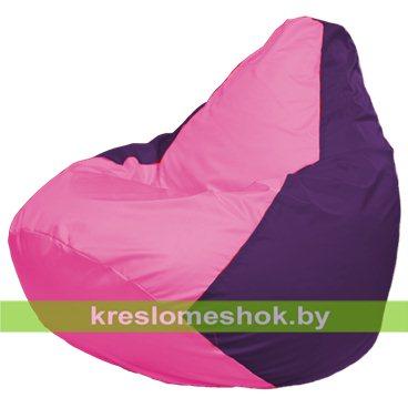 Кресло-мешок Груша Макси Г2.1-191 (основа фиолетовая, вставка розовая)