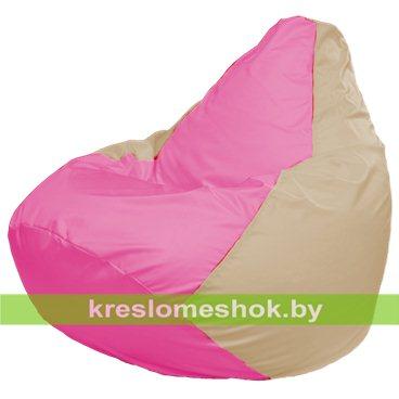 Кресло-мешок Груша Макси Г2.1-196 (основа бежевая, вставка розовая)