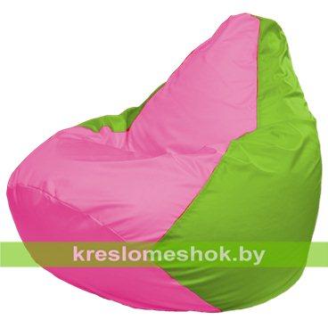 Кресло-мешок Груша Макси Г2.1-197 (основа салатовая, вставка розовая)