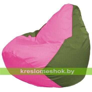Кресло-мешок Груша Макси Г2.1-198 (основа оливковая, вставка розовая)