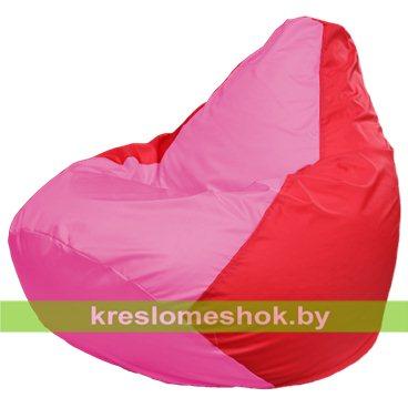Кресло-мешок Груша Макси Г2.1-199 (основа красная, вставка розовая)